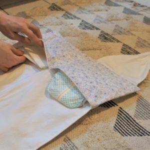 tapis à langer upcycling