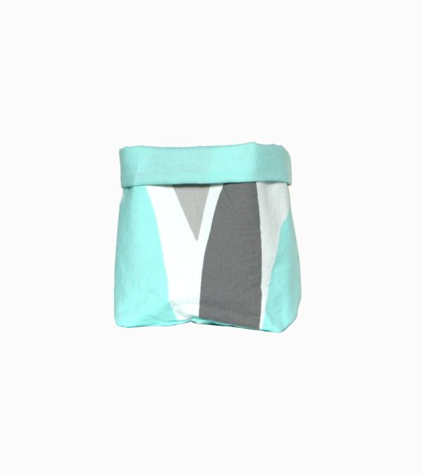 panier tissu upcycling