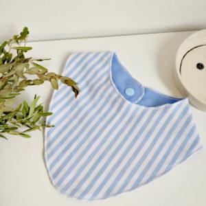 Bandana bleu bébé écoresponsable tata samedi upcycling